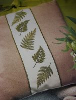 Fern Fronds Cushion Panel ~ Embroidery Pattern