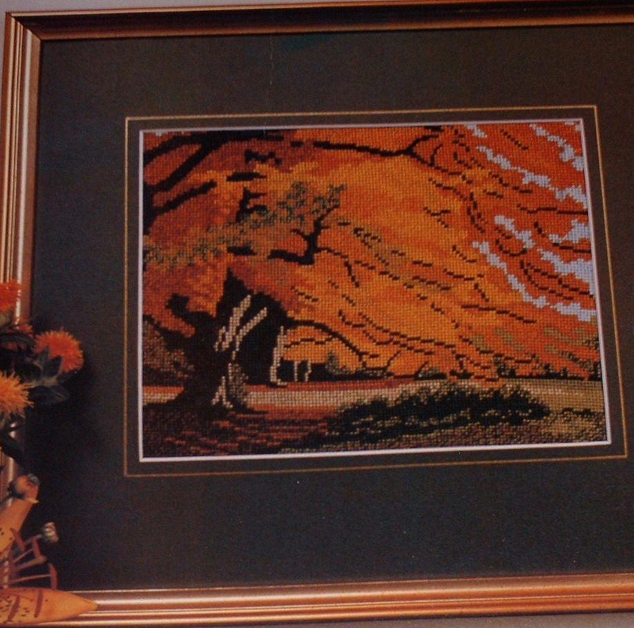 Autumn Trees Scene ~ Needlepoint Pattern