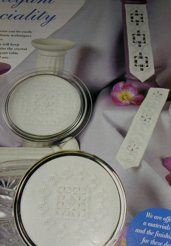 Hardanger Coasters & Bookmarks ~ Four Hardanger Patterns