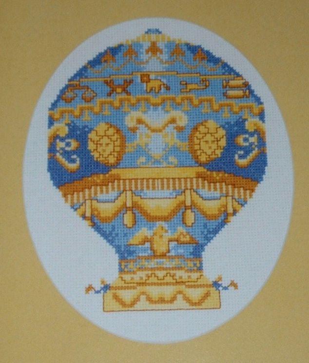 Montgolfier Hot Air Balloon ~ Cross Stitch Chart