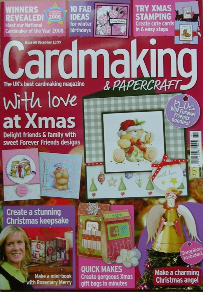 Cardmaking & Papercraft Issue 60 Dec 2009+36 sheets designer paper