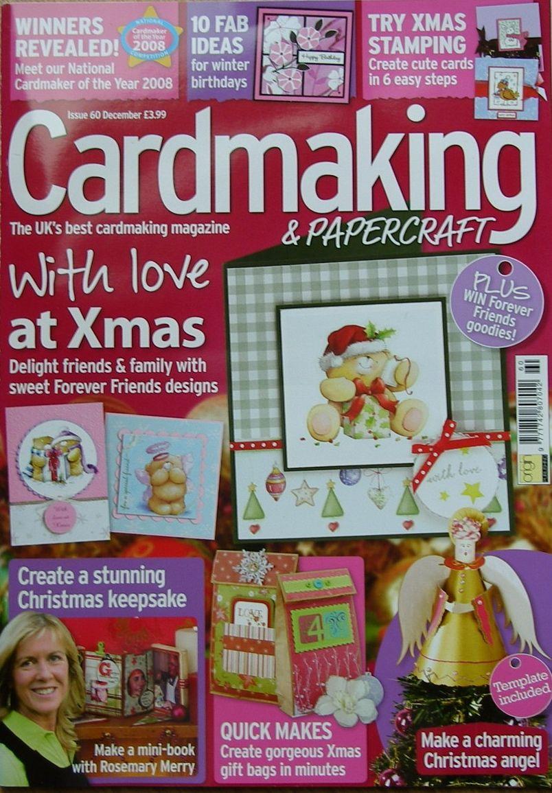 Cardmaking & Papercraft Issue 60 Dec 2009+36 sheets designer paper