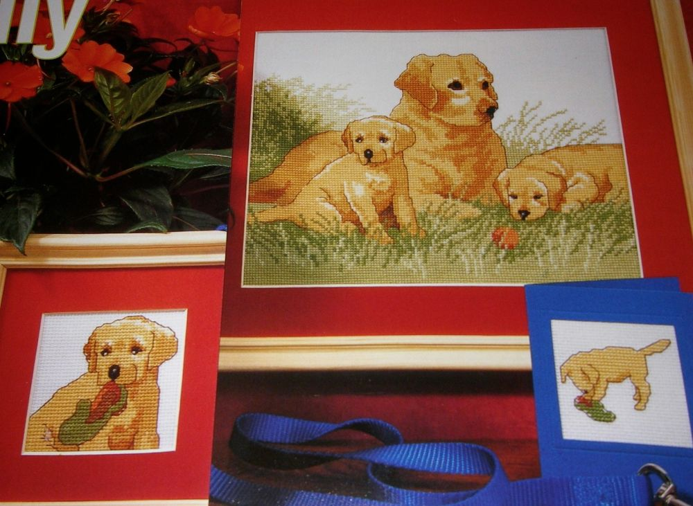 Labrador Dog Family ~ Cross Stitch Chart