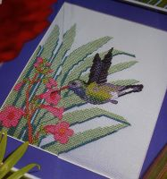 Hummingbird in Action ~ Cross Stitch Chart