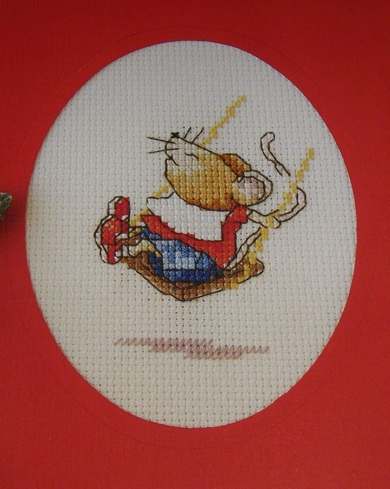 Mouse on Swing ~ Cross Stitch Chart