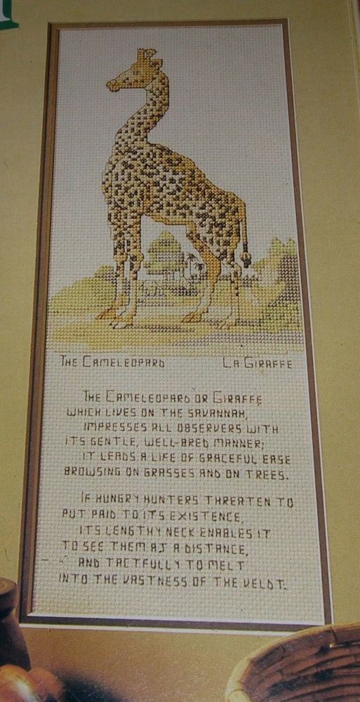 Cameleopard ~ Cross Stitch Chart