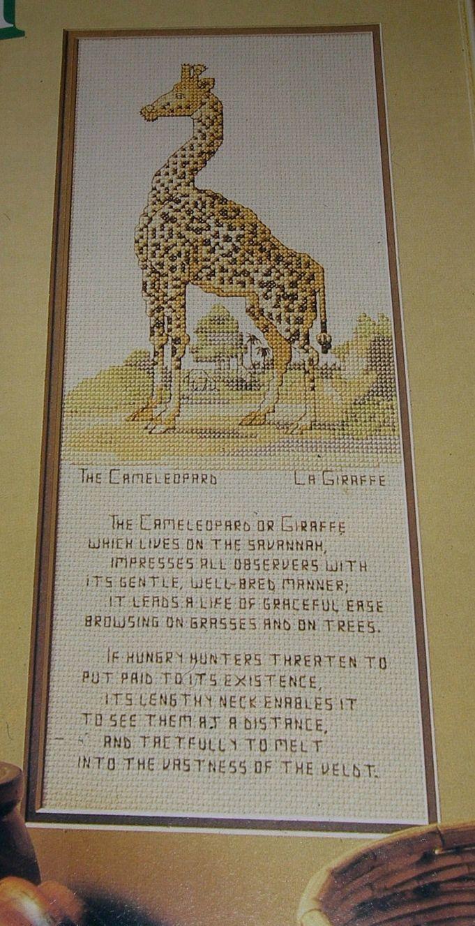 Cameleopard ~ Cross Stitch Chart