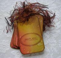 *thank you* OOAK Handmade Vintage Thank You Tag