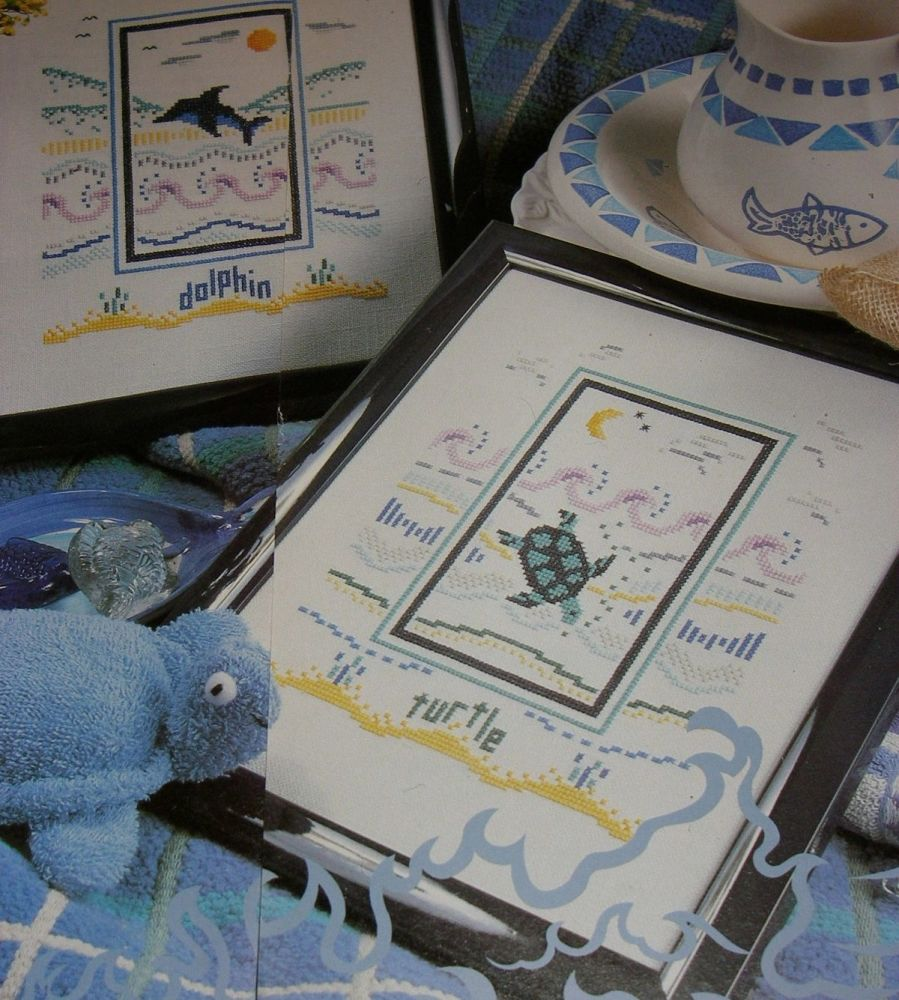 Dolphin & Turtle ~ Two Cross Stitch Charts
