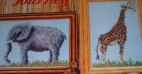 African Elephant & Giraffe ~ Cross Stitch Charts
