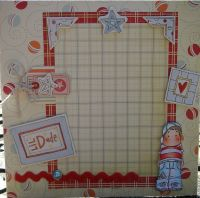 *lil' dude* OOAK Handmade Boy's Scrapbook Photo Frame