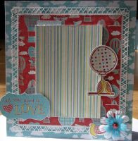 *all you need is love* OOAK Handmade Valentine/Anniversary Photo Frame