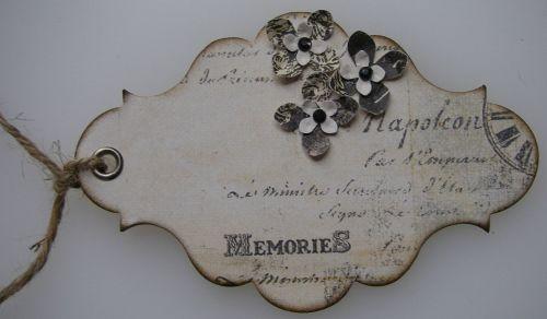 *memories* OOAK Handmade Vintage Tag