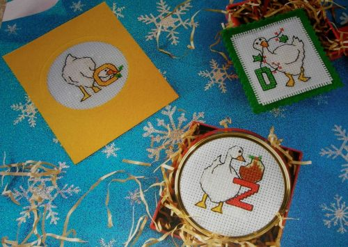 Christmas Geese ABC Alphabet & 123 Numbers ~ Cross Stitch Charts