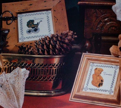 Edwardian Perambulator & Bear ~ TWO Cross Stitch Charts