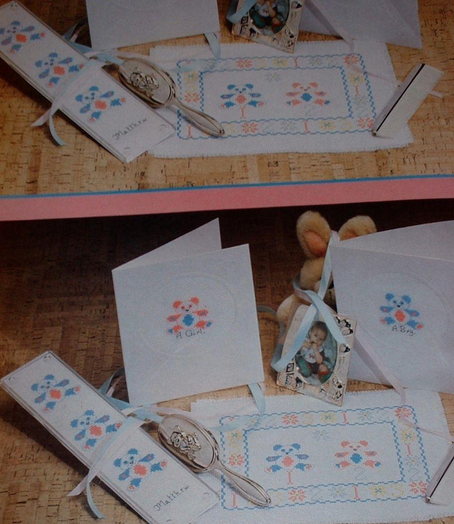 Baby's Nursery Mat, Fingerplate & Card ~ Cross Stitch Charts