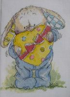 Somebunny Holding A Box of Chocolates ~ Cross Stitch Chart