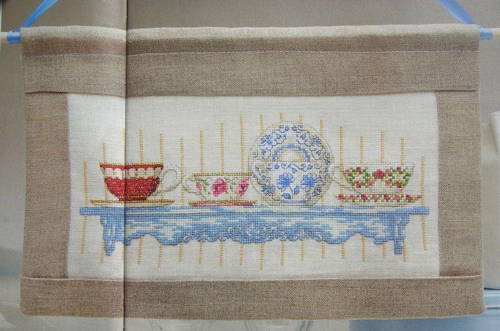 China Tea Cups ~ Cross Stitch Chart