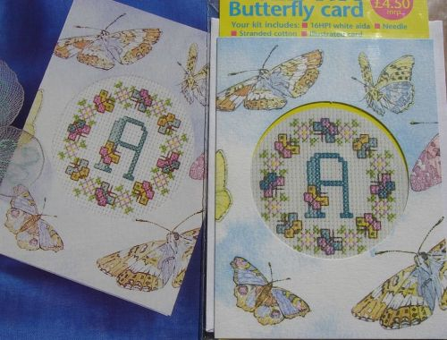 Butterfly Card ~ Mini Cross Stitch Kit