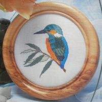 Kingfisher on a Branch ~ Hand Embroidery Pattern