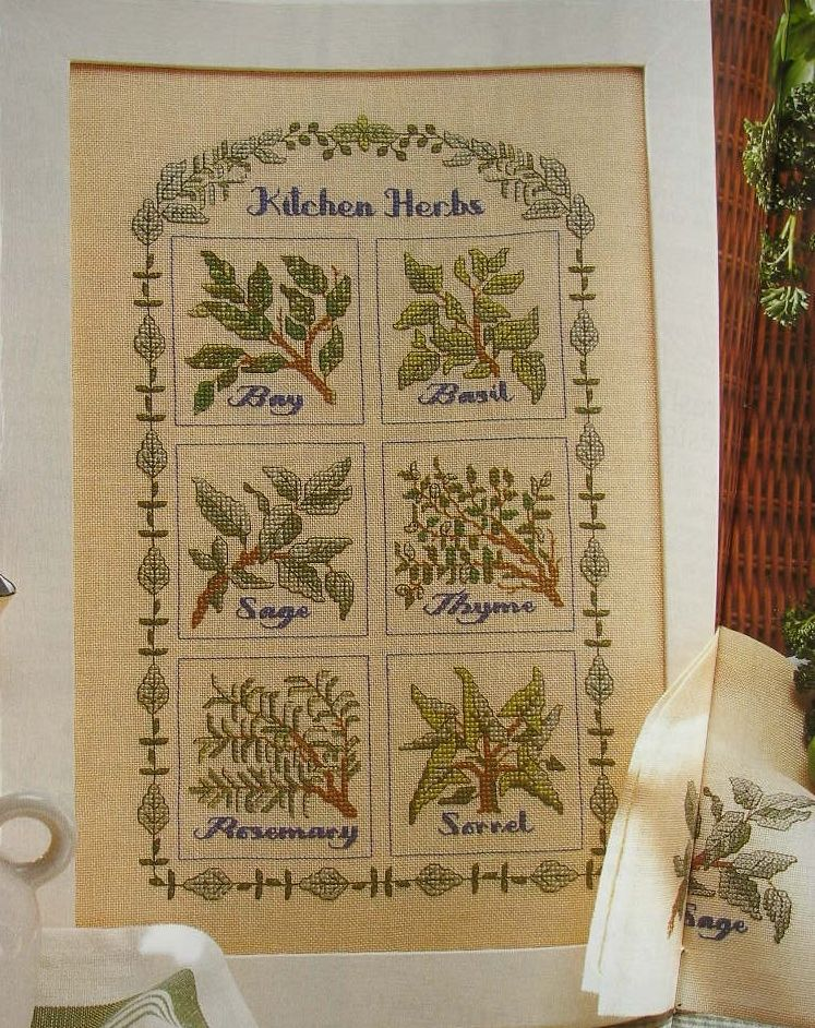 Kitchen Herb Sampler ~ Cross Sttich Chart