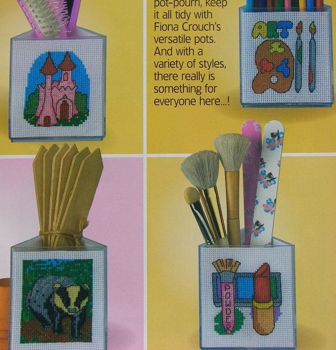 Designs for Pencil Holders, Cards etc ~ Fourteen Cross Stitch Charts