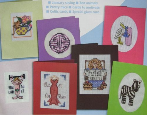 Assorted Card Designs ~ 21 Cross Stitch Charts