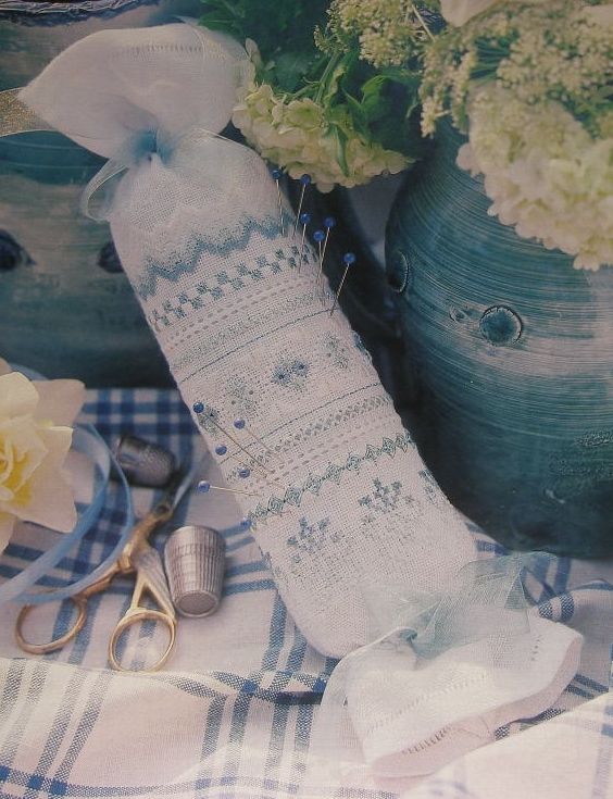 Patricia Ann Designs: Pale Blue Needleroll ~ Hand Embroidery Pattern