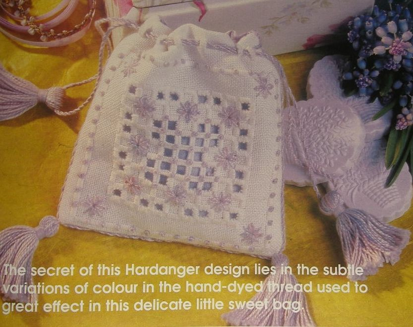 Hardanger Bag with Tassles ~ Hand Embroidery Pattern