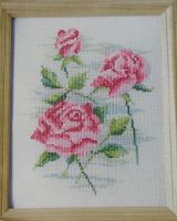 Pastel Roses ~ Cross Stitch Chart