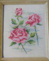 Pastel Roses ~ Cross Stitch Chart