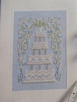 Tiered Wedding Cake Card ~ Cross Stitch Chart