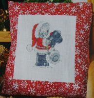 Tatty Teddy in Santa Suit ~ Cross Stitch Chart