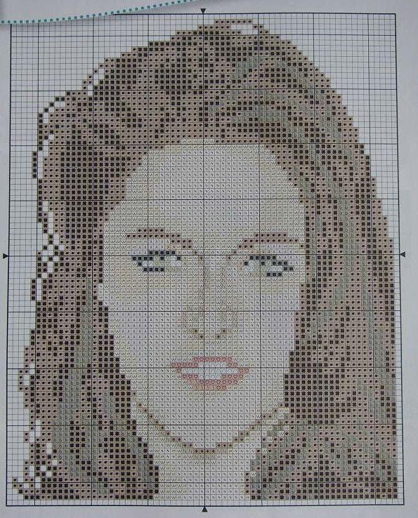 Kristen Stewart: Hollywood Actress and Model ~ Cross Stitch Chart