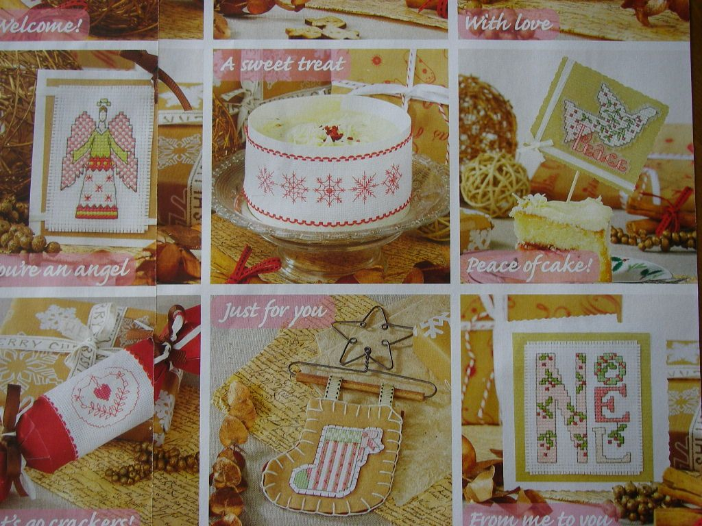 Christmas Cards, Gifts & Decorations ~ 34 Cross Stitch Charts