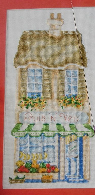 Fruit 'N' Veg Shop ~ Cross Stitch Chart