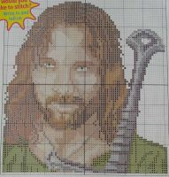 Viggo Mortensen: Actor ~ Cross Stitch Chart