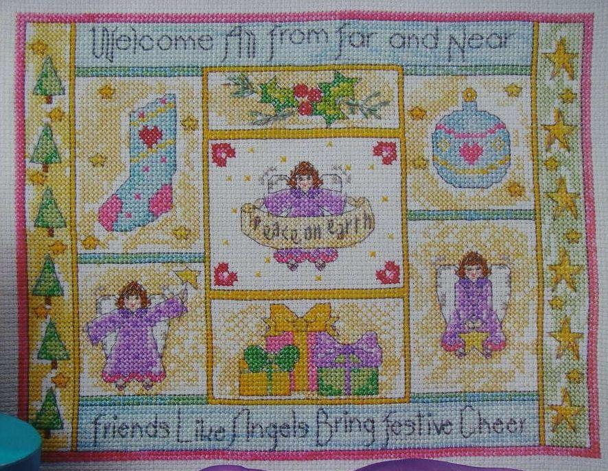 Friends Like Angels ~ Cross Stitch Chart