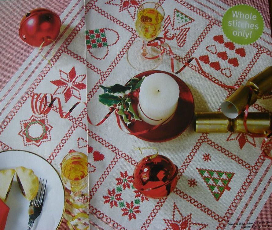 Zweigart Christmas Sampler Tablecloth ~ Cross Stitch Chart