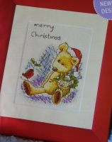 Newton's Law Bear: Merry Christmas ~ Cross Stitch Chart