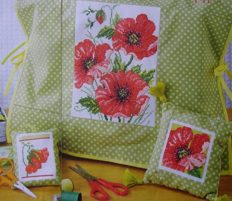 Trio of Poppies ~ Three Cross Stitch Charts