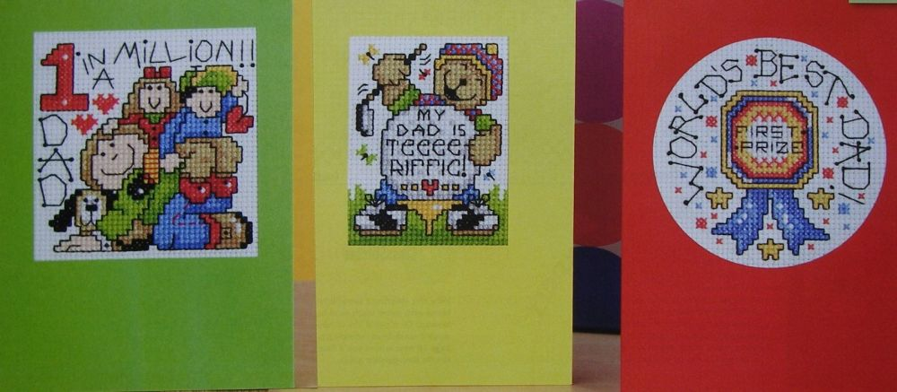 Six Father's Day Cards ~ Cross Stitch Charts