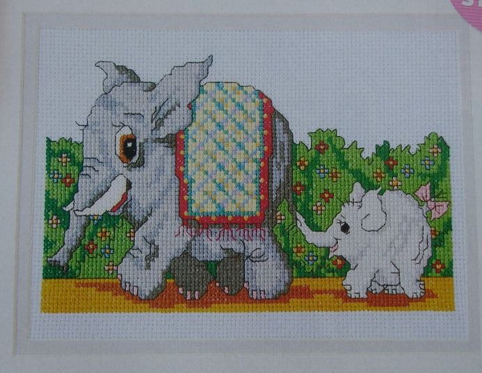 Elephant Parade ~ Cross Stitch Chart