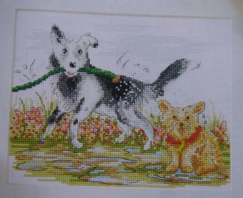 Dogs in the Garden ~ Cross Stitch Chart