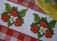 Strawberry Borders ~ Three Cross Stitch Charts