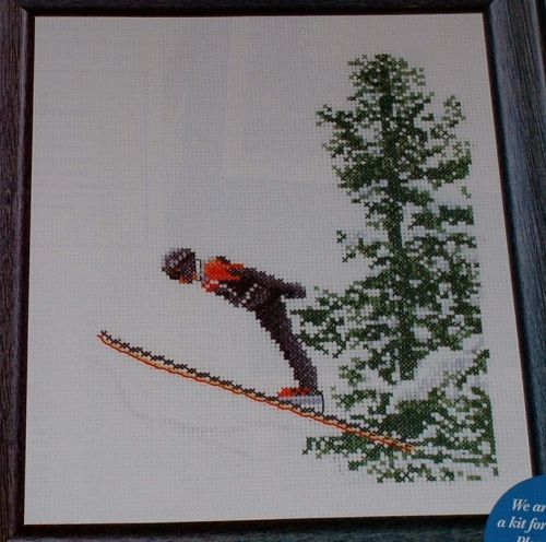 Thea Gouverneur: The Ski Jumper ~ Cross Stitch Chart