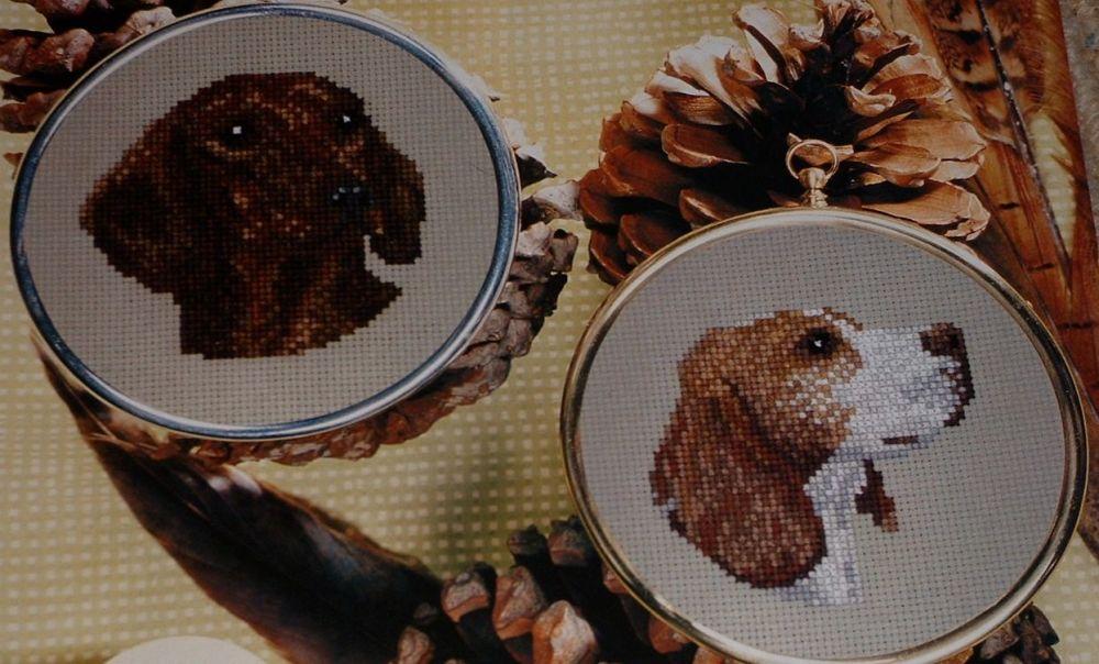 Beagle & Miniature Dachshund ~ Two Cross Stitch Charts