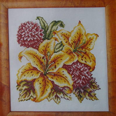 Oriental Flowers ~ Cross Stitch Chart