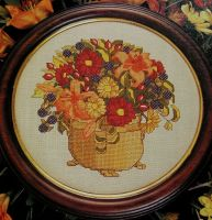 Autumn Floral Arrangement ~ Cross Stitch Chart