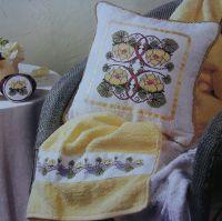 Water Lilies Towel Banding Cushion Trinket Pot Lid: Cross Stitch Chart
